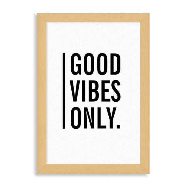 "Ilustración ""Good vibes only"""