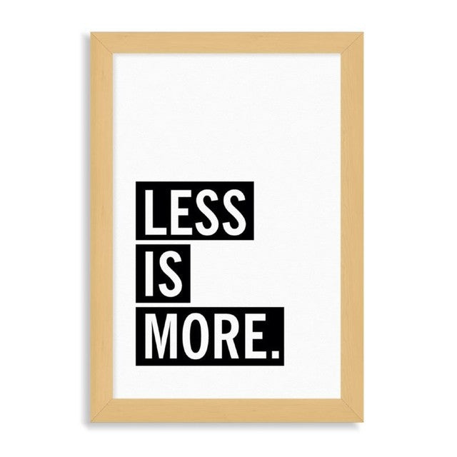 "Ilustración ""Less is More"" con marco"