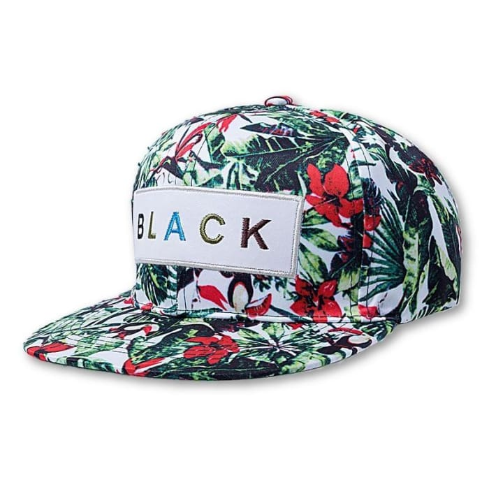 487d56252e0 HuntYourHat - Black   Flower Baseball Cap