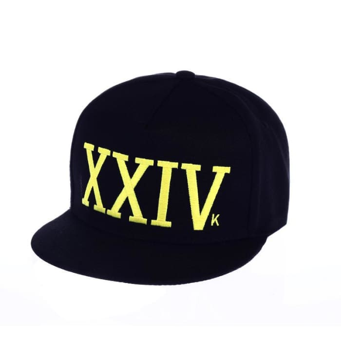 Bruno Mars Hat 24K Magic Xxiv Baseball Cap - Black   Gold - Hat    Huntyourhat f9c10900087