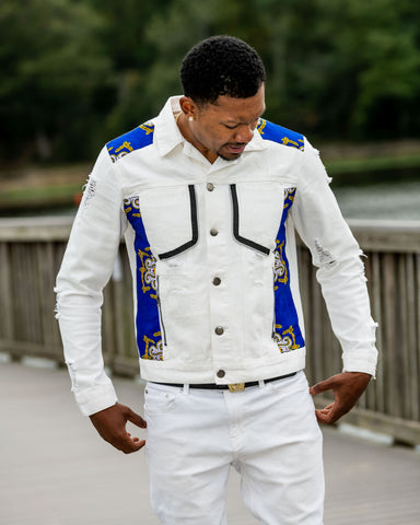 White  Traditional Jean Jacket