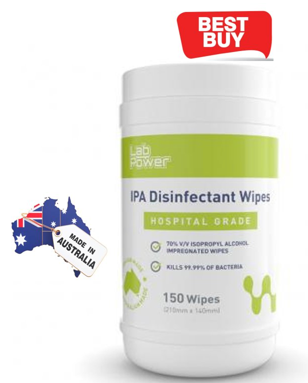 Alcohol Wipes – 70% Isopropyl -Australia Made 150 Wipes