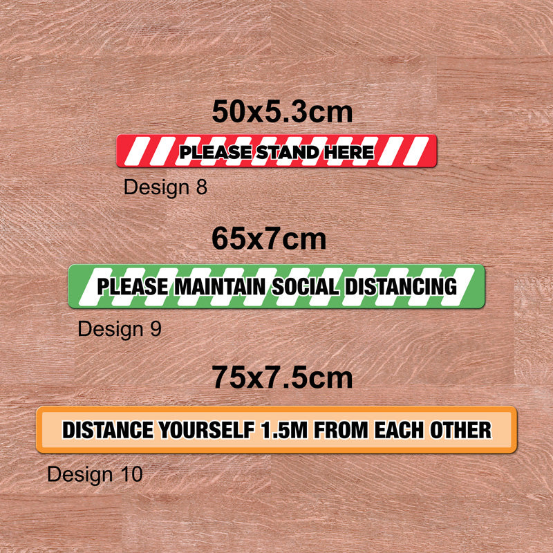 Social Distancing Floor Graphics 500x53mm