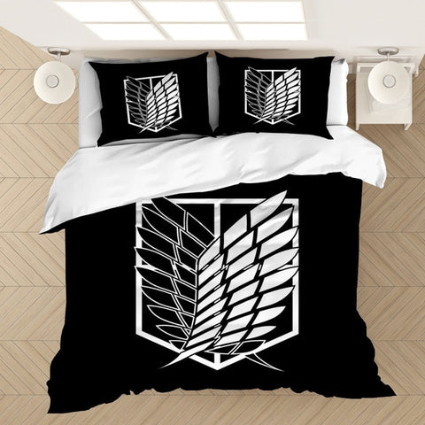 Attack on Titan Bedding Sets - 10 designs to choose from