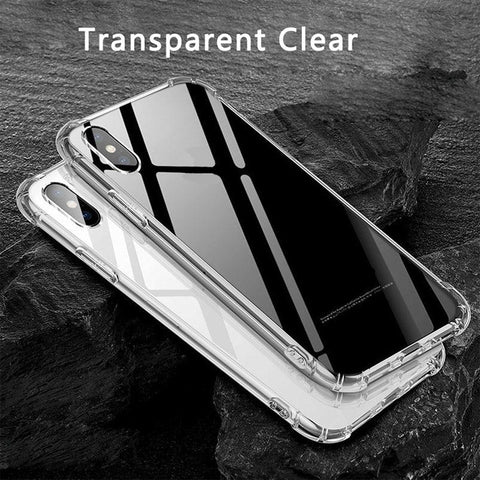 IPHONE X, XS, XR - TRANSPARENT SILICONE BACK COVER