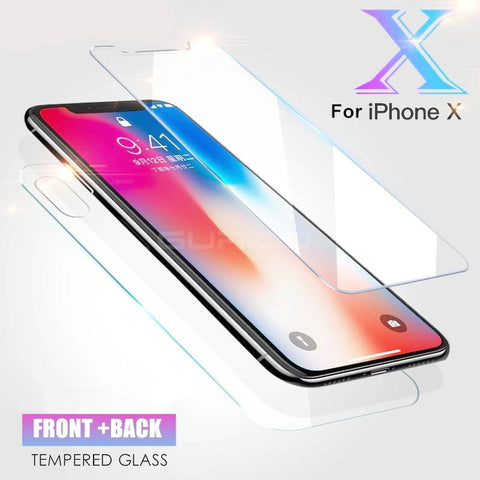 IPhone X   -   Front + Back Full Cover GLASS PROTECTOR