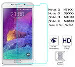 Samsung Note - 2, 3, 4, 5 neo - Clear Tempered Glass