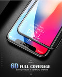 IPhone 10 ( X )   - 6D Full Cover Edge Tempered Glass