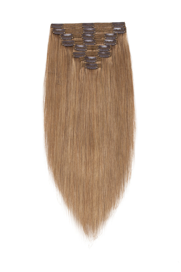 100% Human Hair Clip- in Extensions - #012- Golden Brown