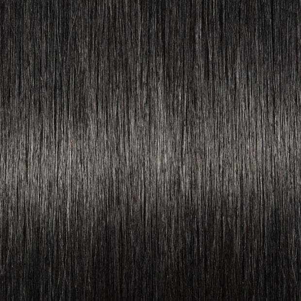 100% Human Hair Clip- in Extensions - #001 Black Velvet