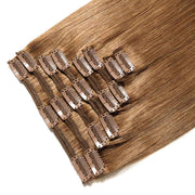100% Human Hair Clip- in Extensions - #006 Light Brown