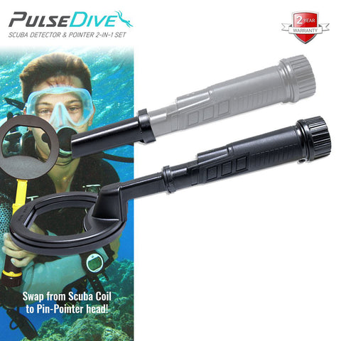Nokta Makro - PulseDive Handheld Metal Detector | Scuba diving metal detector | Snorkelling Gold Waterproof | Water proof underwater under water metal detector for finding coins and gold rings