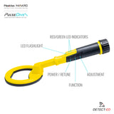 PulseDive Features Waterproof Yellow Metal Detector - Where To Buy: Detect-Ed Australia