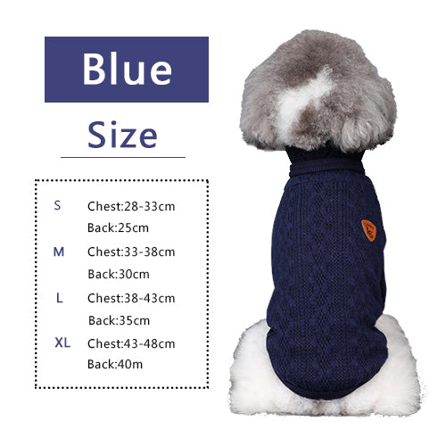 Winter Knit Turtleneck Dog Sweater