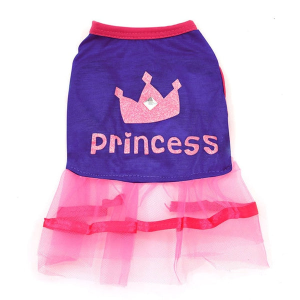 Luxury Princess Dog Dress Soft Lace & Tulle Skirt