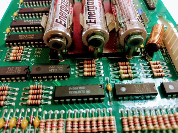 AA batteries on a Williams WPC Controller board