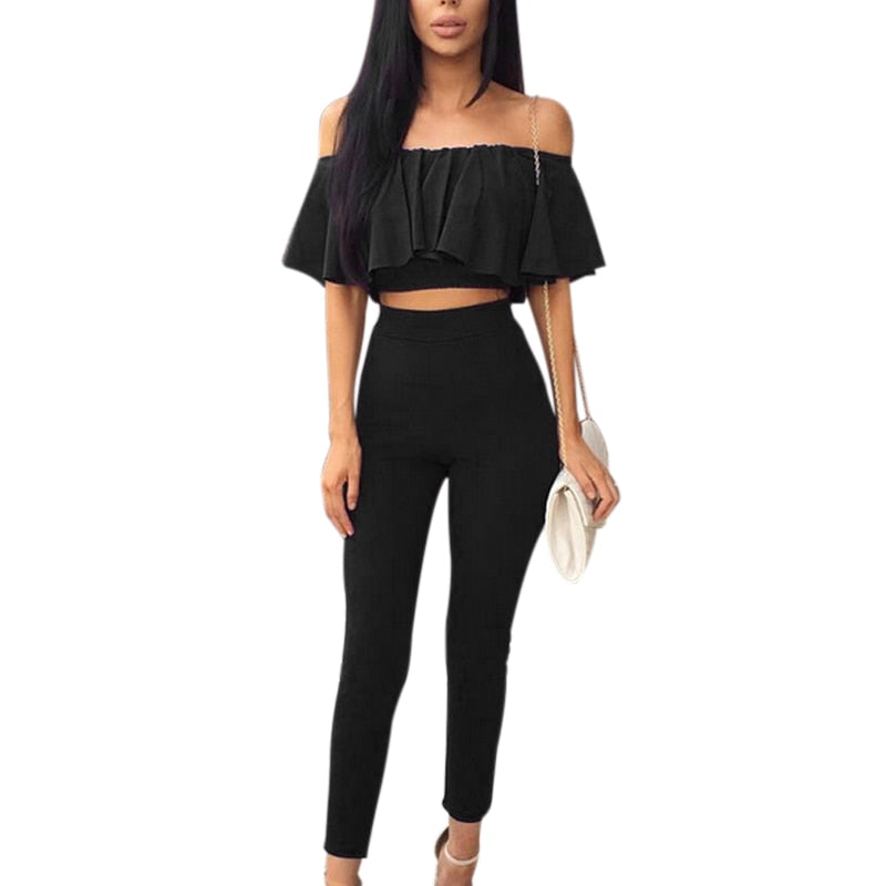 Shoulder Cropped Blouse Tops