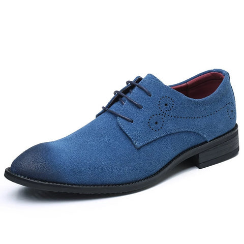 Men Dress Suede Shoes - LIONPEAKS