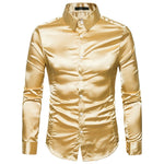 Silk Men Satin Smooth Tuxedo Shirt - LIONPEAKS