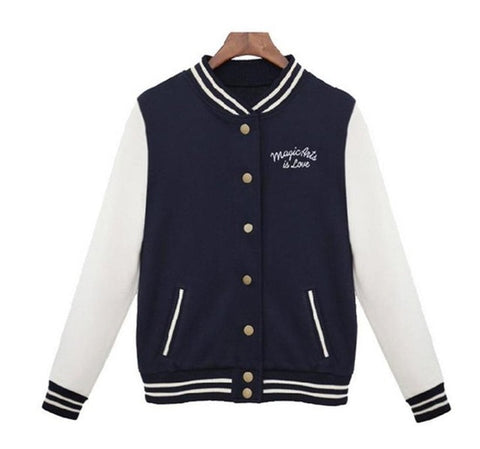 Women Baseball Jacket - LIONPEAKS