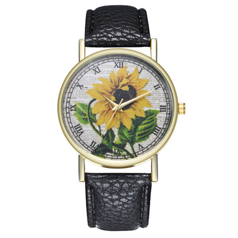Sunflower Painting  Watch Clock - LIONPEAKS