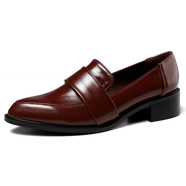 oxford formal work leather women shoes - LIONPEAKS