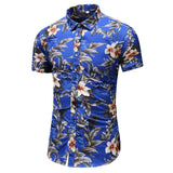 Men's Casual Camisa Masculina Printed Shirt - LIONPEAKS