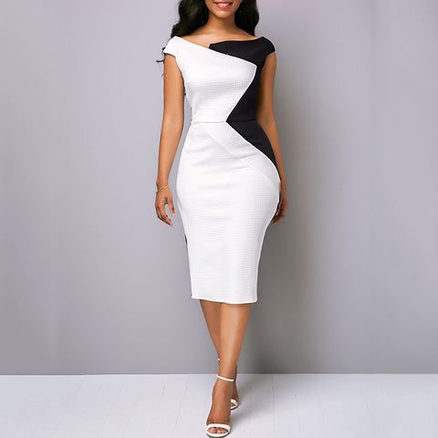 Business Evening Irregular Dress - LIONPEAKS