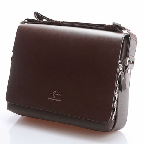 Kangaroo Men Soft Leather Bag - LIONPEAKS