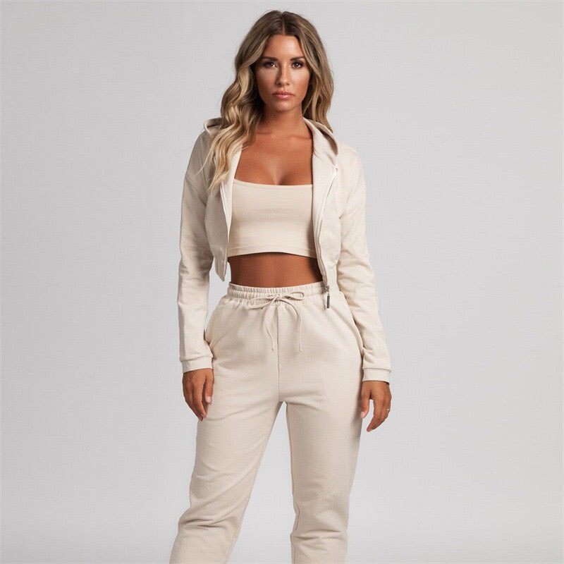 Two Pieces Set Hoodie Top And Pant
