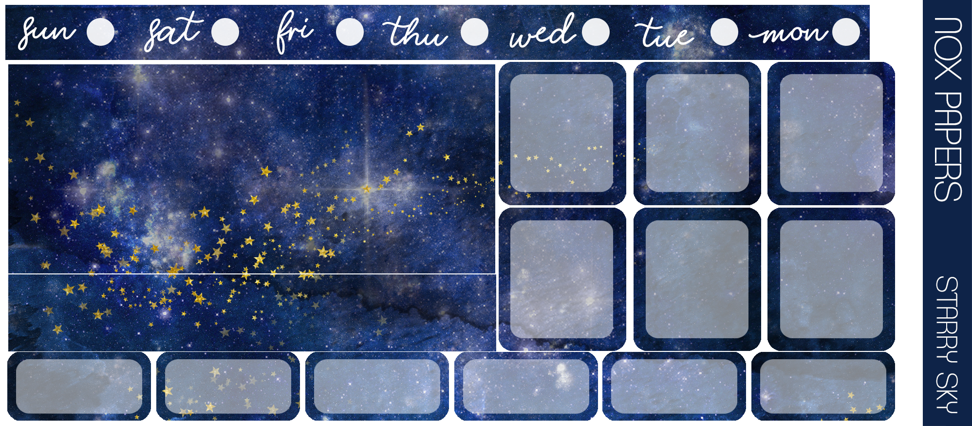 Starry Sky - Hobonichi Weeks