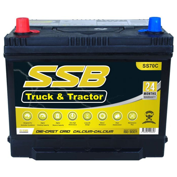 SS70C High Performance Maintenance Free 4WD & Truck Battery