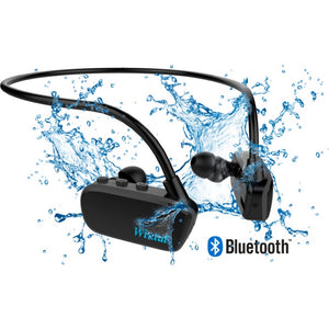 8GB BLUETOOTH AQUA BUDS WATERPROOF BLACK AQB18