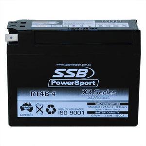 RT4B-4 - High Performance AGM Motorcycle Battery