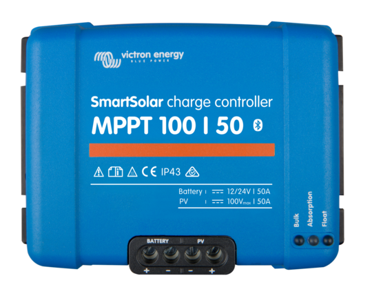 VICTRON SMARTSOLAR MPPT 100/50 CHARGE CONTROLLER WITH BUILT-IN BLUETOOTH