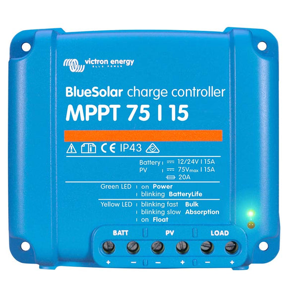 VICTRON ENERGY BLUESOLAR MPPT CHARGE CONTROLLER 75/15