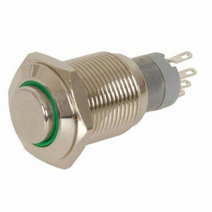 SP0797 - IP67 Rated Illuminated Momentary Switch Green
