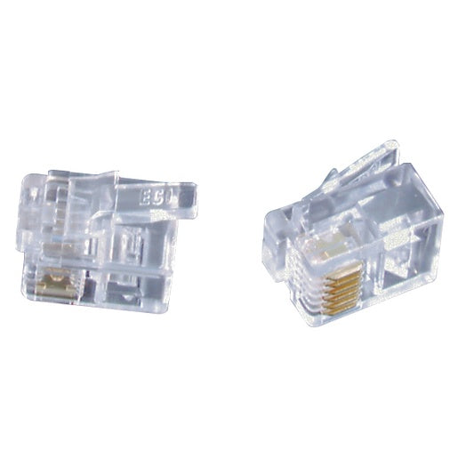 RJ12 Telephone plugs for Stranded Cable - Pk.5