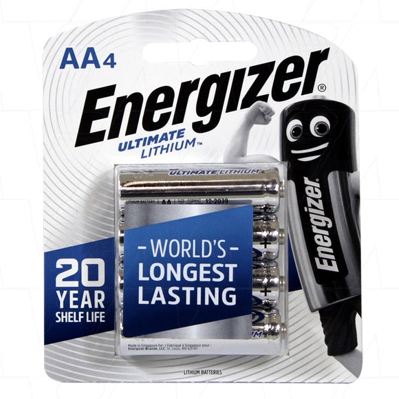 ENERGIZER AA BATTERIES 4PC