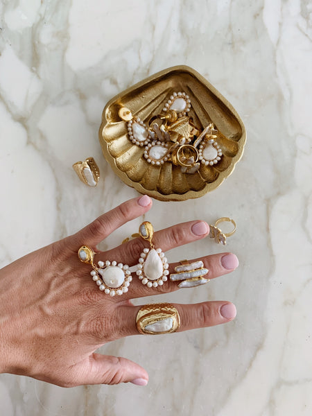 Shay Freshwater Pearl and Gold Ring