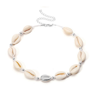 Castaway Silver Cowrie Shell Necklace