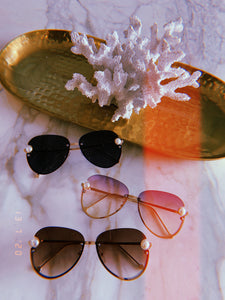 Holiday Pink Pearl Sunglasses