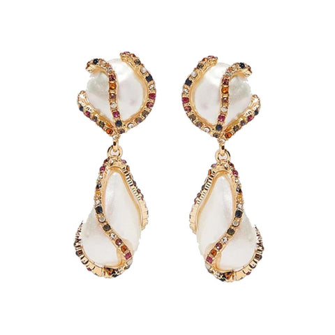 Adriene Pearl Embellished Earrings