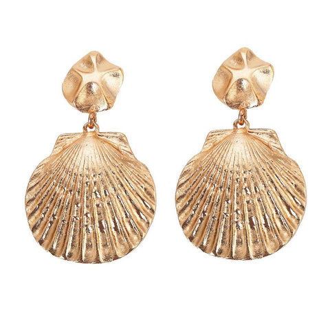 Ariel Gold Shell Earrings