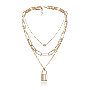 Angelina Gold Chain Layered Necklace