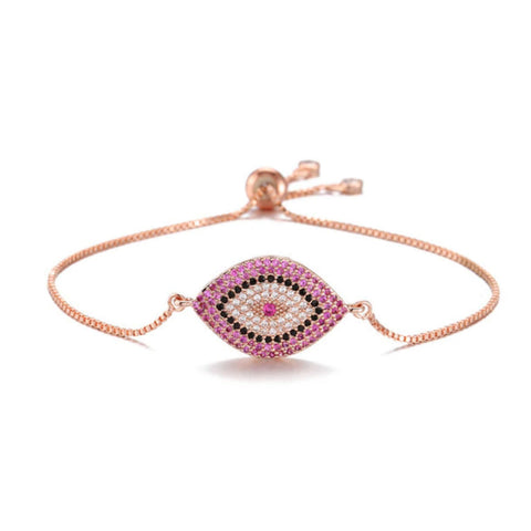 Bazaar Rose Gold Evil Eye Bracelet