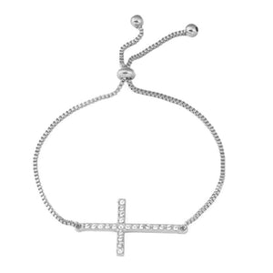 Blessed Silver Cross Bracelet