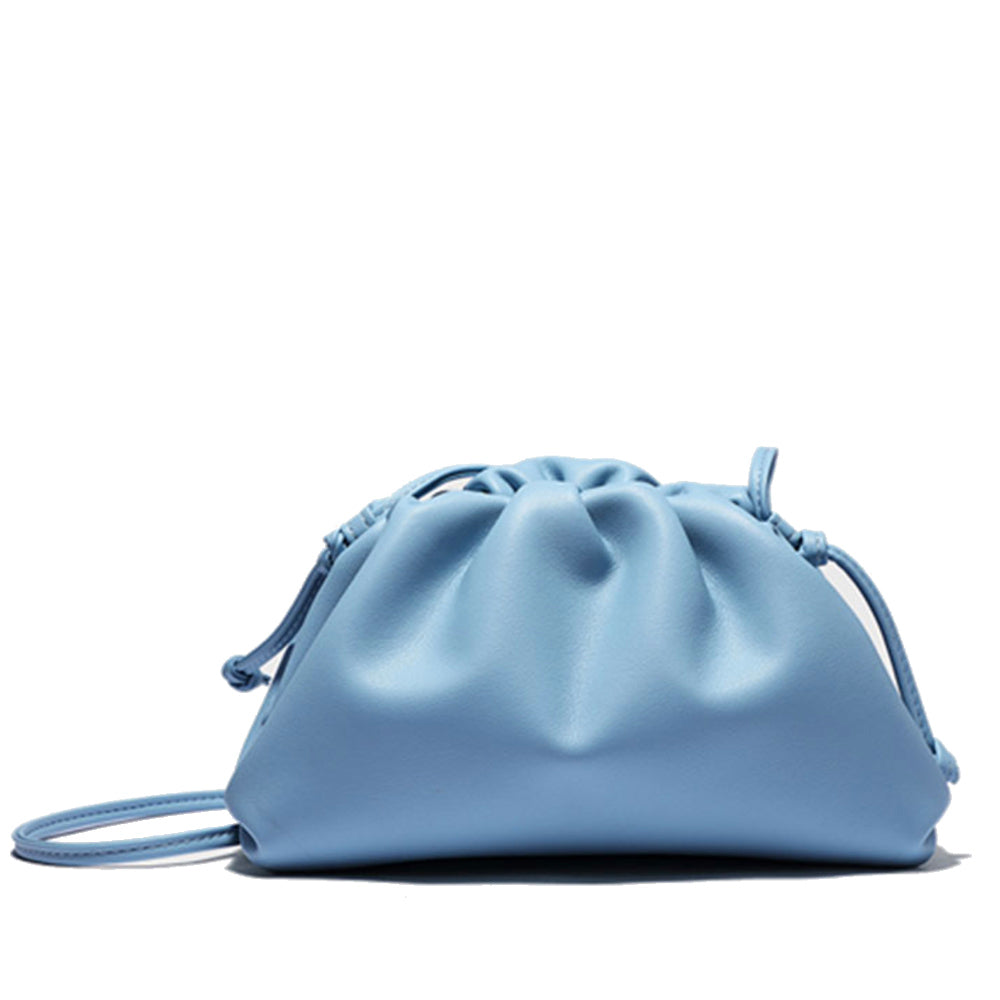 Pastel Blue Leather Clutch