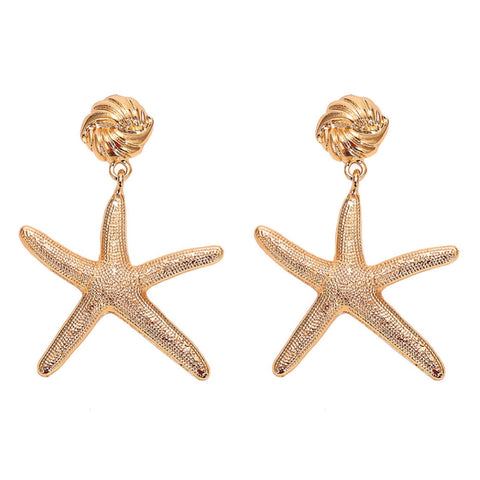 Boardwalk Gold Starfish Earrings