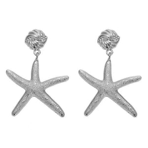 Boardwalk Silver Starfish Earrings